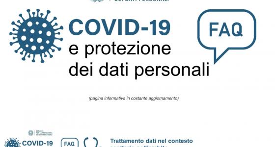 COVID-19 E TRATTAMENTO DEI DATI PERSONALI