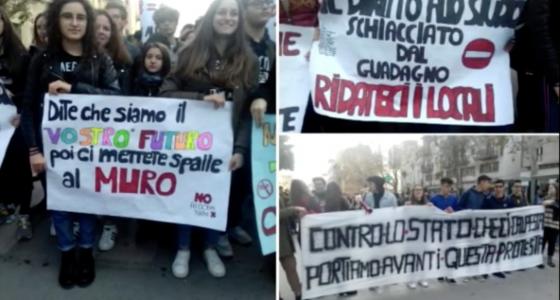 DISTANTI MA SEMPRE PIU' UNITI, CONTINUA L'AZIONE DI PROTESTA DEI NOSTRI ALUNNI